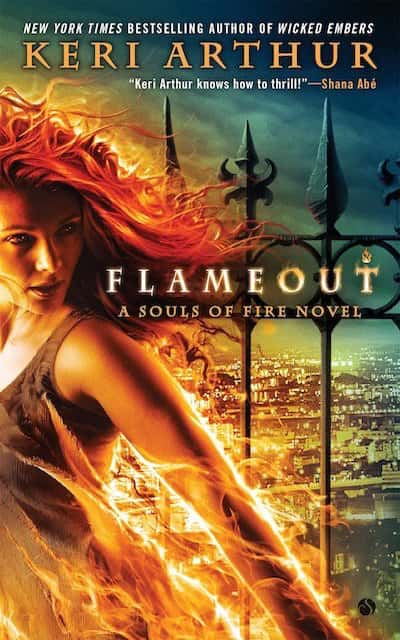 Book cover for Flameout by Keri Arthur