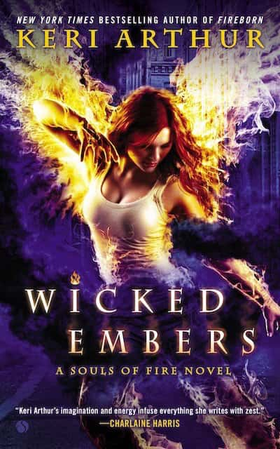 Book cover for Wicked Embers by Keri Arthur